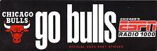 Chicago Bulls--2000-01 Bumper Sticker--WMVP/ESPN Radio