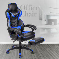 Racing Gaming Chair High Back Leather Recliner Swivel Executive Office Desk Seat