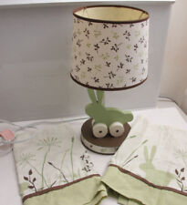 """Kids Line Bunny Green Nature 17"""" Tall Lamp and 2x60"""" Window Valences - Used Ofc"""