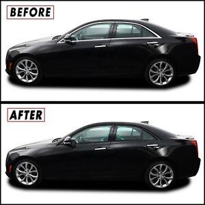 Chrome Delete Blackout Overlay for 13-18 Cadillac ATS Sedan Window Trim & Pillar