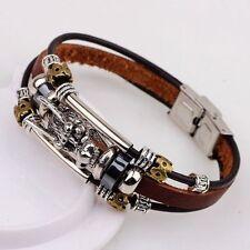 Leather Alloy Chain Fashion Bracelets