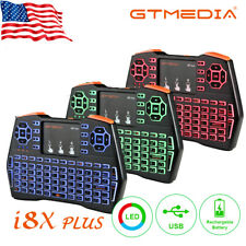 US i8X PLUS Backlit Wireless Mini Handheld Remote Keyboard for PC,Android TV Box