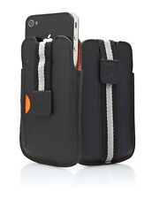 Cygnett CYGCY0430CPBOS Boston Leather Case for Apple iPhone 4/4S Black