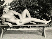 """Bruce of LA Vintage Blond Nude Male Relaxed Gay Interest -17""""x22"""" Fine Art Print"""