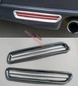 Chrome Rear bumper Fog Light cover Trim For Mazda6 Saloon 2009 2010 2011 2012