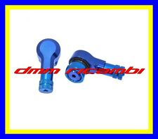 Coppia 2 Valvole ruote MOTO 90° Alluminio Pneumatici Tubeless 11,3 mm. Blu