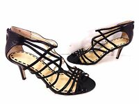 Women's Enzo Angiolini Earennes Cut Out Heels Black Size 7.5 M