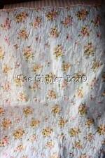 Vintage Quilted Standard Pillow Sham Light Blue Shabby Cottage Chic Roses B8