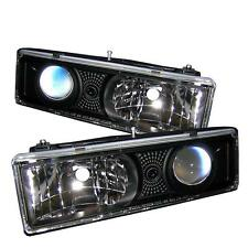 Projector Head Lights Lamps Chevy GMC Assorted Models 1988-1999  - Black (Pair)