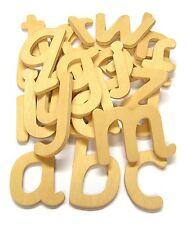 Lower Case Wooden Script Style letter Templates set of 26