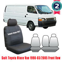 For Toyota Hiace LWB Van Custom Made Car Seat Cover 1990-2005 Front Row