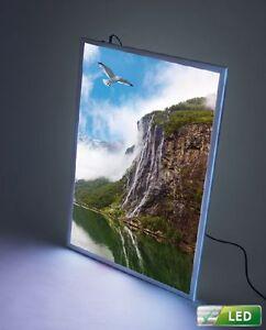 LED Leuchtrahmen Leuchtdisplay DIN A1 Werberahmen Posterrahmen Leuchtkasten