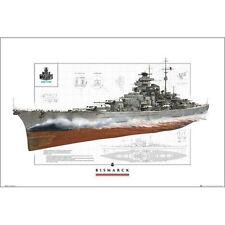 World of Warships - Bismark POSTER 61x91cm NEW * German Battleship info facts