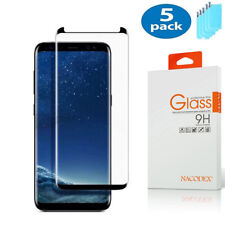 5X NX For Samsung Galaxy S9 3D Full Cover Tempered Glass Screen Protector -Black
