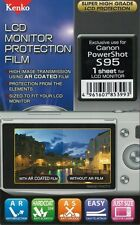 186427 KENKO LCD SCREEN PROTECTION FILM FOR CANON POWERSHOT S95 NEW