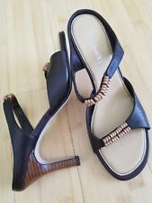 "Women's brown Chadwick's Sandals - size 6.5M with 3"" heel"