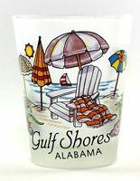 GULF SHORES ALABAMA BEACH CHAIR SHOT GLASS SHOTGLASS