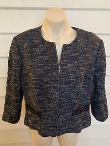 Jigsaw Linen Blend 2 Piece Suit Size 16