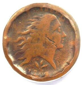 1793 Flowing Hair Wreath Cent 1C (S-9) - ANACS F12 Detail (Fine) - Rare Coin!