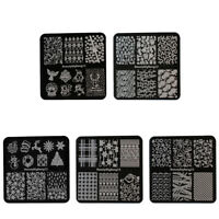 Christmas Nail Stamping Plates Nail Art Stamp Template Image Plate Stencils US