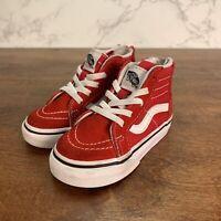 Vans RED SK8 SNEAKERS sz 5.5 Toddler Boys Girls Hi High Top Shoes