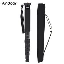 Andoer A-555 6-Section Compact Portable Photography Aluminum Alloy Monopod K2K9