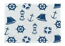 Place Mats, Placemat in Maritime Style with Maritime Motif, Cotton