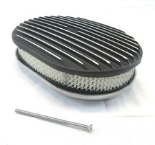 12'' Oval Finned Air Cleaner w/ Element Black BPE-1101B