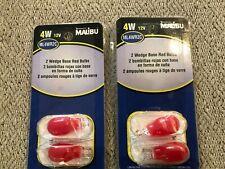 4 MALIBU WEDGE BASE BULBS CHRISTMAS 2 Sets Bulbs New