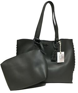 NWT Jessica Simpson Woman's Tote W/Clutch, Slate Color, MSRP: $128.00