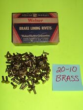 NOS - 100 OF ANY SIZE: 20-10, 20-9 OR 20-8  WAGNER BRAKE SHOE LINING RIVETS