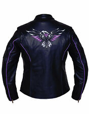 Ladies Leather Jacket, with Embroidery Eagle Design on Back 6800.00