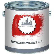 Lausitzer Farbwerke Metallschutzlack 3 in 1 Rot 2,5L 5L 10L RAL 3000 Feuerrot