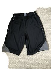 Boys Champion Basketball Shorts Elastic Waist Black/Gray Size 16-18
