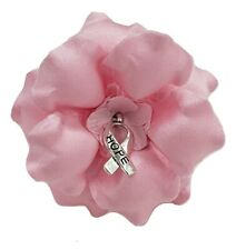 Breast Cancer Awareness Pink Fabric Flower Brooch Pin