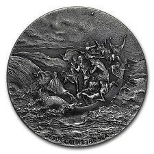 2017 2 oz Silver Coin - Biblical Series (Jesus Calms the Sea) - SKU #131973