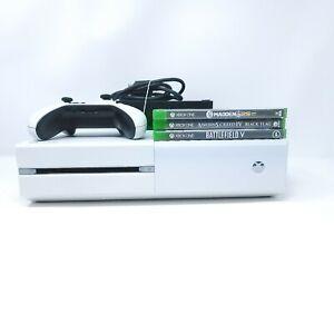 Xbox One Console Model 1540 500 GB - White W/ 3 Games HDMI Cable 1 Controller