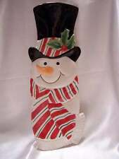 Fitz and Floyd Snack Therapy Snowman Server New in Box 2005