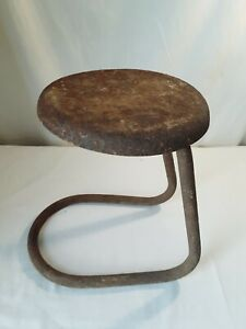 """Vtg Milking Stool 12"""" Barn Find Country Primitive Decor Display ~ Plant Stand"""