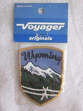 Vintage Embroidered Wyoming Patch Voyager Brand NOS Made in USA