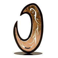 moderne Porte-bougies bougeoirs pour chauffe-plats Moon métal noir hauteur 31 cm