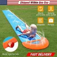 Inflatable Single Water Slide Potable Summer Lawn Water Slip Kids Toys Outdoor