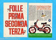 TOP987-PUBBLICITA'/ADVERTISING-1987- PIAGGIO SUPERBRAVO -2 fogli