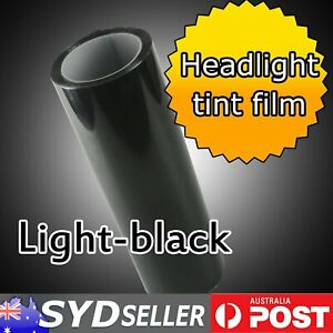1.8Mx0.3M Finish Light Black Smoked Headlight Tint Film Tail Fog Lamps Overlay