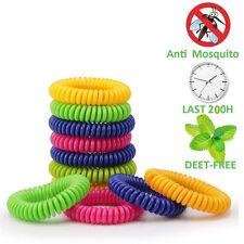 Mosquito Repellent Bracelets Natural Deet Free Waterproof Spiral Wrist Bands IW