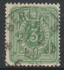 Germany - 1875/9, 3pf Yellow-Green stamp - Used - SG 31a