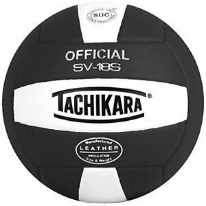 Tachikara Institutional quality Composite VolleyBall, Black-White