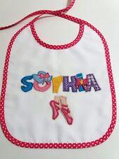 Handmade Bib Personalized with Name Sophia
