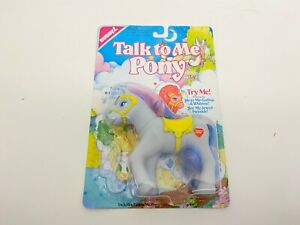 Buddy L Talk To Me Pony Grey w Pink Blue Hair  Sealed In Original Packaging 1991
