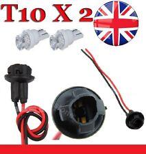 Reino Unido 2 X T10 Bombilla LED Luz Soporte Coche Moto Conector Hembra Dash Twist W5W